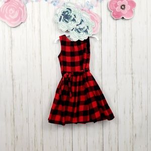 Carters Buffalo Plaid Sleeveless Dress Sz 5T